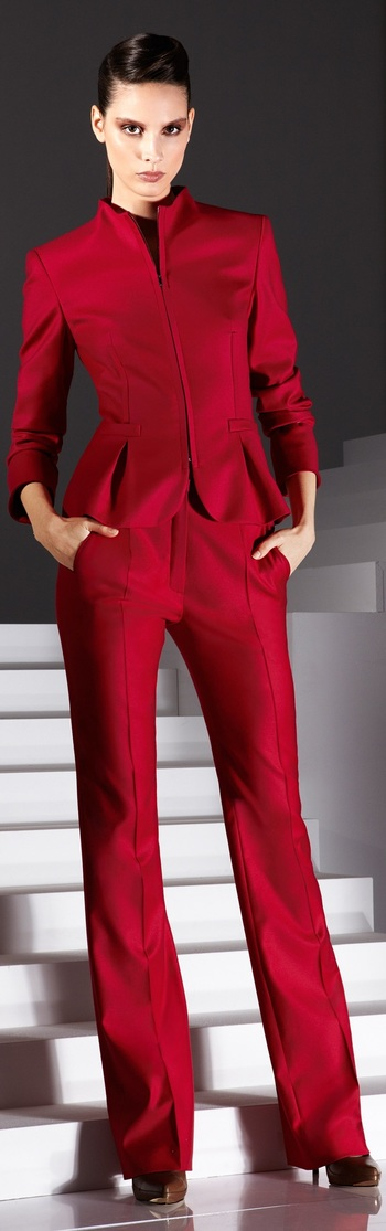 Escada - red jacket and pants - 2012