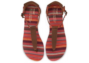 Brown Leather Woven Playa Sandals | TOMS