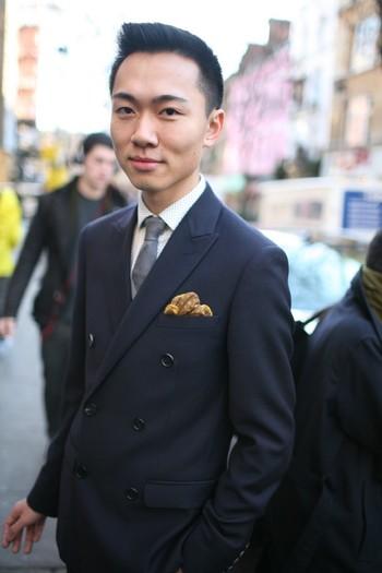 They Are Wearing: London Men's Fashion Week Fall 2013 - Slideshow - WWD.com Handkerchief Revival!
