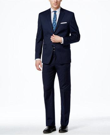 Alfani Men's Traveler Navy Solid Slim-Fit Suit Separates, Only at Macy's - Suits & Suit Separates - Men - Macy's