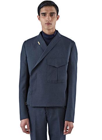Kolor Double-Breasted Wool Jacket