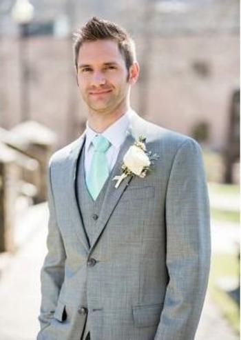 Prom Suits Men  Wedding Offer Suits For Groomsmen 2015 Gray Mens Suits Wedding Groom Tuxedo 3 Peices Suit Grey Tuxedos For Men Wedding Tuxedo Custom Made Summer Suits For Men From Sexypromdress, $83.77| Dhgate.Com