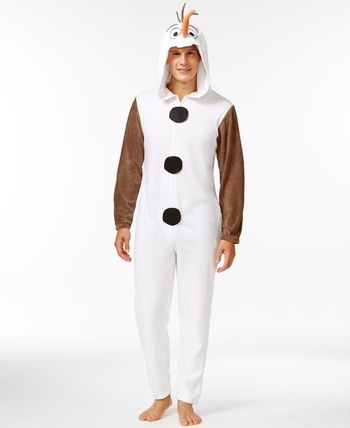 Briefly Stated Olaf Frozen Hooded One-Piece Pajama Suit - Pajamas, Robes & Slippers - Men - Macy's