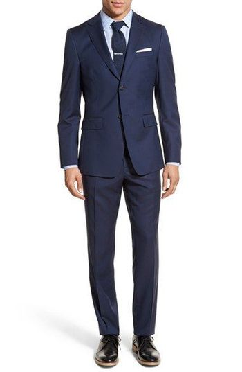 Jack Spade Trim Fit Solid Wool Suit | Nordstrom