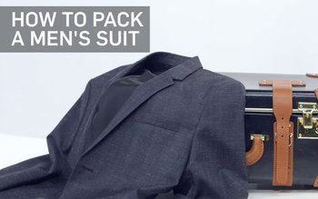 VIDEO: How to Pack a Men's Suit