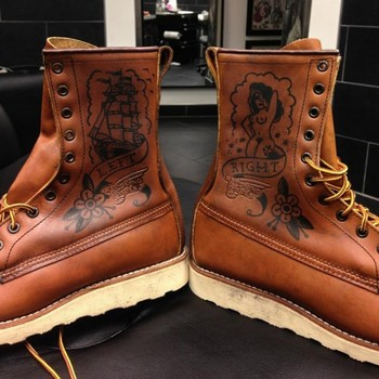 Ink and Cowhide: Customising a Red Wing 877