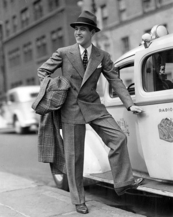#fashion - Old school men's suit #Gangster