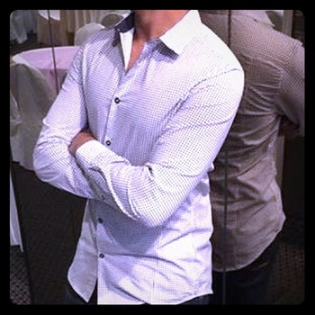 Suit shirt with stripes