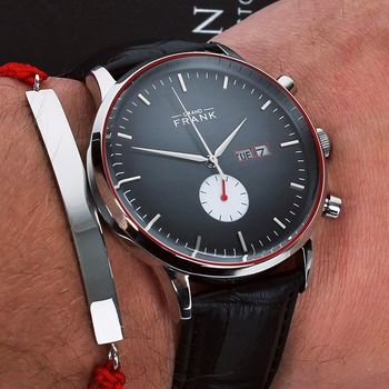 The Aberdeen Black Date Leather Watch will