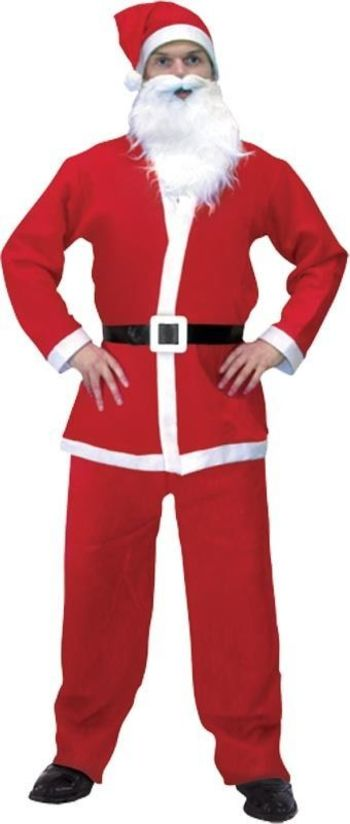 Adult Santa Suit 5 Pcs :: Wicked Nights Limited