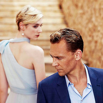 Precursor Press: Elizabeth Debicki and Tom Hiddleston in a new-to-me publicity photo from The Night M