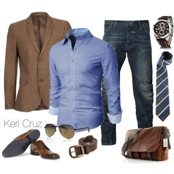 Men's Business Casual, created by keri-cruz on