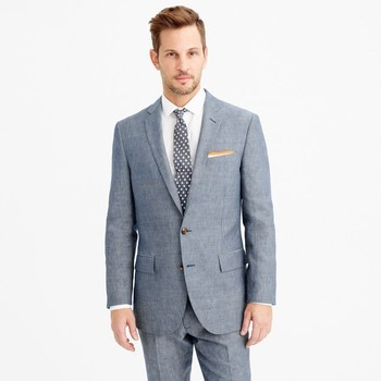 Ludlow suit jacket in Italian wool-linen : Men The Suit Shop