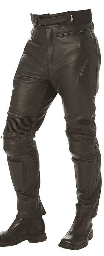 Mens Armored Leather Racing Pants