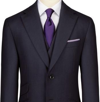 SUIT UP - Charles Tyrwhitt Navy herringbone London shrunk slim fit suit jacket - ShopStyle