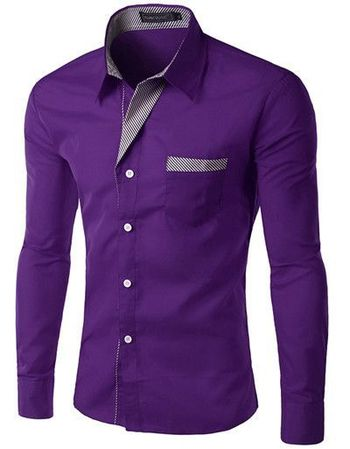 Long Sleeve Slim Men Shirt (13 Colors)