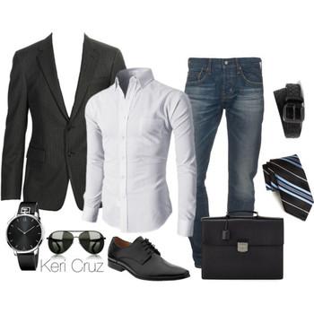 Men's Business Casual, created by keri-cruz on