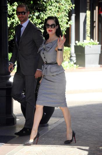 Dita Von Teese Skirt Suit