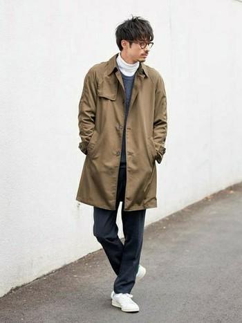 ショップスタッフ Kazuki│LE JUNのステンカラーコートコーディネート-WEAR