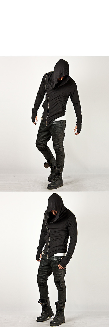 Unbeatable Arm Warmer Diagonal Zip Up Hoodie