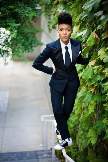 Suit swag with Janelle Monet: this girl is pure style and I can't stand it