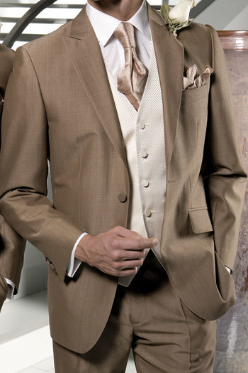 brown mens suite wedding | Mohair Sandford Boys Suit Jacket from Torre - Puck Wedding