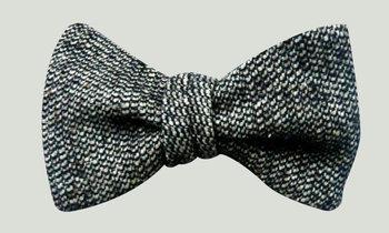 Grey Tweed Bow Tie by joanneswisterski on Etsy, $20.00