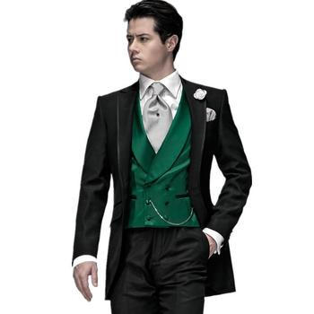 2015 New Arrival Herren Anzug Single Breasted Groom Tuxedos Peak Lapel Best Black Wedding Prom Suits Men Suit Costume Homme Prom Tuxedos For Men Tailcoat Men From Xydress, $84.56| Dhgate.Com