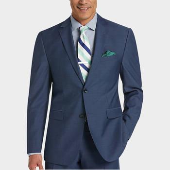 Perry Ellis Portfolio Blue Slim Fit Suit - Slim Fit | Men's Wearhouse