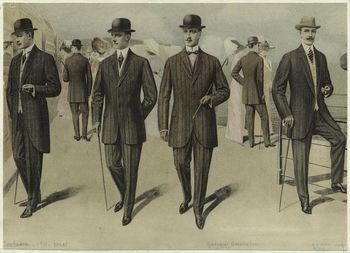 Men in Suits, England c. 1911. Source: NYPL: Edwardian Fashion,