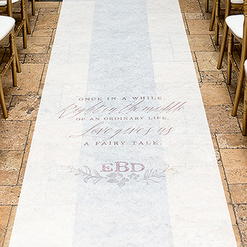 Modern Fairy Tale Personalised Aisle Runner