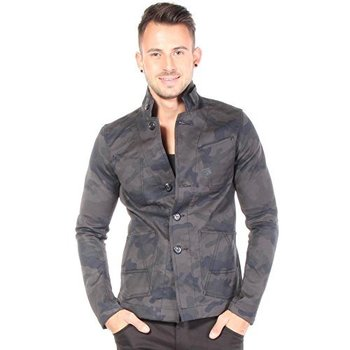 G-Star Raw Men's A Crotch 3D Cropped Blazer In Camo Compact King Broken Twill