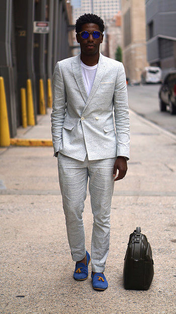 How To Look Your Coolest In A White Summer Suit by Jamal Jackson