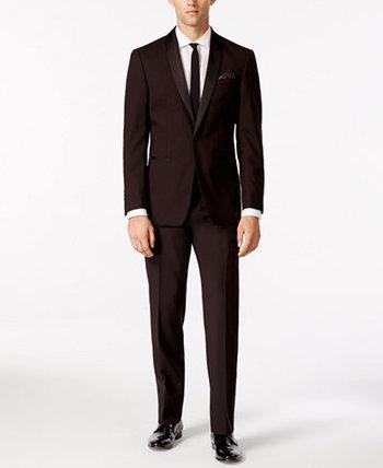 Tallia Men's Brown and Black Stripe Slim Fit Tuxedo Suit - Tuxedos & Formalwear - Men - Macy's