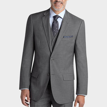 Pronto Uomo Gray Vested Modern Fit Suit - Modern Fit | Men's Wearhouse