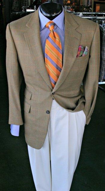 Sport Coat by Samuelsohn(42R) Shirt by Hamilton(16) Slacks by Jack Victor(35) Tie by Robert Talbott P