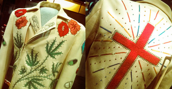 Gram Parsons\' famous Nudie suit. On display at the Country Music Hall Of Fame.