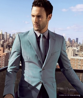 Noah mills men's turquoise suit at DuckDuckGo