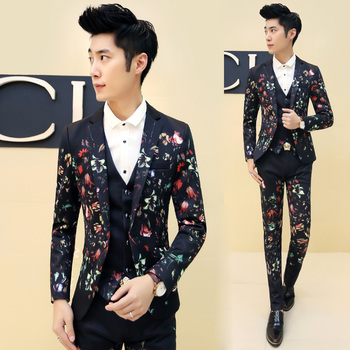 (Suit + pants) 2015 new men Slim suits Korean fashion personality floral stitching casual suit Men's dress suits-in Suits from Men's Clothing & Accessories on Aliexpress.com | Alibaba Group