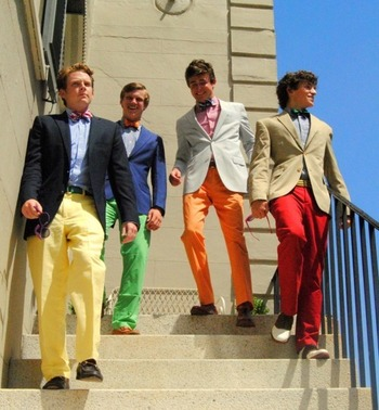 """Bow ties and colorful pants. This is when they tell you to """"go-to-hell"""""""
