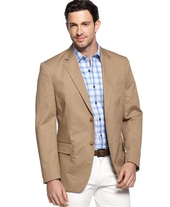 Tasso Elba Big and Tall Cotton Twill Core Blazer - Blazers & Sport Coats - Men - Macy's