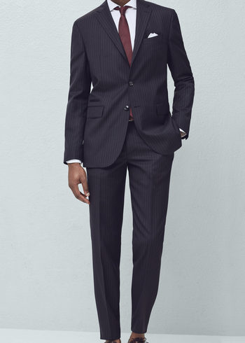 Pinstripe suit blazer -  Man | MANGO Man Greece