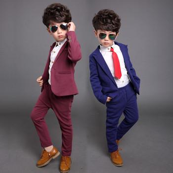 Enfants vêtements garçons costume formel ensemble épaisse toison de mariage Gentleman Outfit costumes enfants vêtements Set Toddler garçons smoking dans Tenues de Produits pour bébés sur AliExpress.com | Alibaba Group