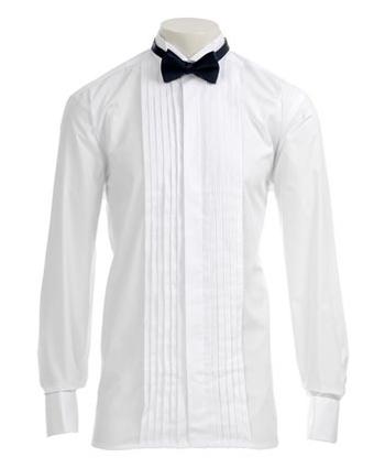 Men's Shirt Collars and Black Tie Formal Wear