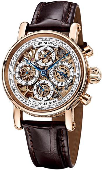 CHRONOSWISS Chronograph Skeleton Mens Wristwatch Model CH7541SR