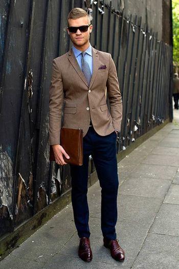 Men's Brown Suede Loafers on Lookastic