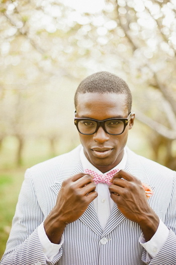 Preppy Styled Shoot Featuring African American Couple