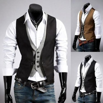Free Shipping Fashion Men's Suit Vest Casual