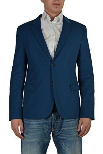 """Hugo Boss """"Arnando"""" Men's Blue Two Button Sport Coat Blazer US 40R IT 50"""