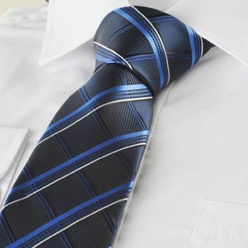 Superbaby Blue Plaid Checked Navy Classic Mens Tie Formal Suit Necktie http://www.yourneckties.com/su